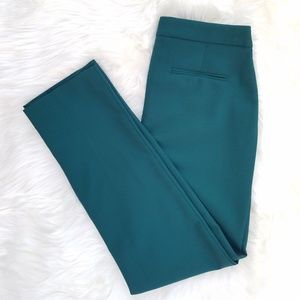 Talbots Womens Green Heritage Wool Blend Pants 2 N